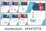 internal human organs... | Shutterstock . vector #694373776