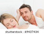 boyfriend looking at his... | Shutterstock . vector #69437434