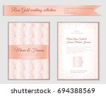 luxury wedding invitation... | Shutterstock .eps vector #694388569
