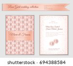 luxury wedding invitation... | Shutterstock .eps vector #694388584