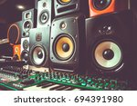 high quality loudspeakers in dj ... | Shutterstock . vector #694391980