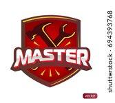logo master lettering brand... | Shutterstock .eps vector #694393768