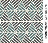 seamless pattern with hatched... | Shutterstock .eps vector #694401478