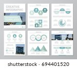 set of turquoise elements for... | Shutterstock .eps vector #694401520