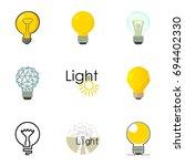 different creative lightbulb... | Shutterstock .eps vector #694402330