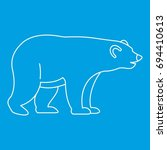 bear icon blue outline style... | Shutterstock .eps vector #694410613
