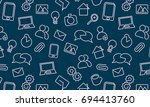 web icons background. vector... | Shutterstock .eps vector #694413760