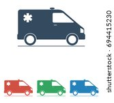 ambulance icon   simple flat... | Shutterstock .eps vector #694415230