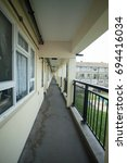 Small photo of 11th August 2017, Essex England, Landings on deck access council housing.