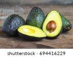 avocado | Shutterstock . vector #694416229
