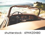 retro car of free space for... | Shutterstock . vector #694420480