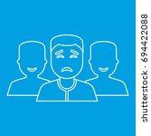 community icon blue outline... | Shutterstock .eps vector #694422088