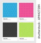seamless vector pattern... | Shutterstock .eps vector #694427284