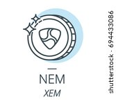 nem cryptocurrency coin line ... | Shutterstock .eps vector #694433086
