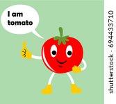 tomato vector cartoon | Shutterstock .eps vector #694433710
