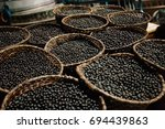lots of acai  traditional fruit ... | Shutterstock . vector #694439863