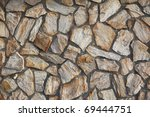 Stone Wall for background. - stock photo