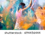 creative blurred background of... | Shutterstock . vector #694456444