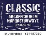 script handcrafted vector... | Shutterstock .eps vector #694457380