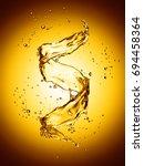 water splash in the form of... | Shutterstock . vector #694458364