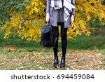 close up fashion details  woman ... | Shutterstock . vector #694459084