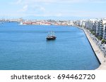 view on thessaloniki from the... | Shutterstock . vector #694462720