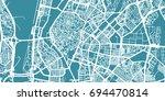 detailed vector map of sevilla  ...