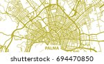 detailed vector map of palma in ... | Shutterstock .eps vector #694470850