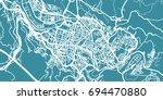 detailed vector map of bilbao ... | Shutterstock .eps vector #694470880