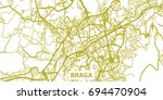 detailed vector map of braga in ... | Shutterstock .eps vector #694470904