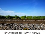 Small photo of Wine yards & railway tracks