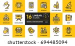 collection of line icons for... | Shutterstock . vector #694485094