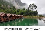 floating bungalows on cheow lan ... | Shutterstock . vector #694491124