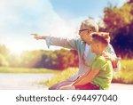 family  generation ... | Shutterstock . vector #694497040