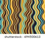creative stripes wave ripple... | Shutterstock .eps vector #694500613
