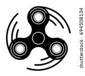 vector modern spinner black... | Shutterstock .eps vector #694508134