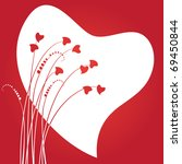 valentine's day abstract with... | Shutterstock .eps vector #69450844