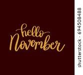 lettering words in gold glitter.... | Shutterstock .eps vector #694508488
