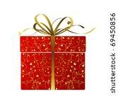 stylized gift   vector | Shutterstock .eps vector #69450856