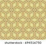 stylish geometric background.... | Shutterstock .eps vector #694516750