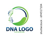 dna leaf logo | Shutterstock .eps vector #694517104