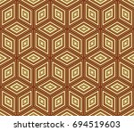 stylish geometric background.... | Shutterstock .eps vector #694519603