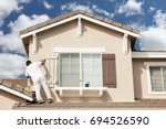 professional house painter... | Shutterstock . vector #694526590