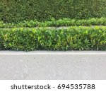 landscaped wall | Shutterstock . vector #694535788