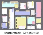 paper banners with notes set...   Shutterstock . vector #694550710