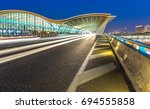 expressway to shanghai pudong... | Shutterstock . vector #694555858