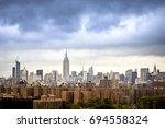 new york skyline cloudy day | Shutterstock . vector #694558324