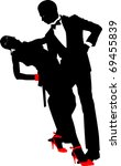dancing couple silhouette  n a... | Shutterstock .eps vector #69455839