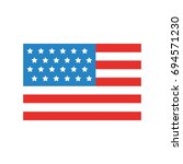 usa flag isolated icon | Shutterstock .eps vector #694571230