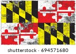 the flag of maryland | Shutterstock . vector #694571680
